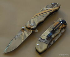 "TACFORCE CAMO TACTICAL SPRING ASSISTED KNIFE WITH POCKET CLIP - 7"" OVERALL KNIFE"