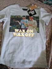 NEW Size 8 Karate KId Cotton On Tee, Wax On Wax Off, WithTags, Light Grey Marle