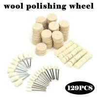 129PCS Felt Polishing Buffing Pads Wool Plastic Dremel Rotary Tool Kit Set