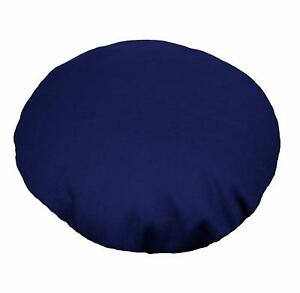 Aw17n Royal Blue Round Shape 12oz Thick Cotton Canvas Cushion/Pillow Cover Size