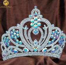 """6"""" AB Crystal Bridal Pageant Tiaras Diadem Pageant Women Crowns Hair Accessories"""