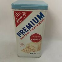 Vintage 1969 Nabisco Premium Saltine Crackers Tin Midcentury Tin Excellent