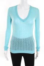 BCBG Max Azria Sea Mist Cashmere Cable Knit Sweater Size Extra Small New $198