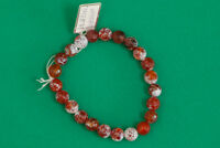 Orange Agate Beaded Bracelet Handmade Jewelry