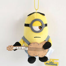 Despicable Me Minions Movie Stuart Playing Guitar Plush Toy Stuffed Animal 5""