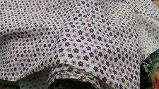 White Poly cotton purple small Star print fabric£3.00 per meter