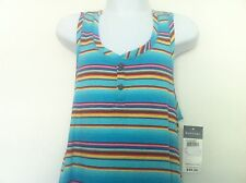 Ralph Lauren Girls Tank Maxi-Dress Teal Blue Striped Size M (8-10) NWT
