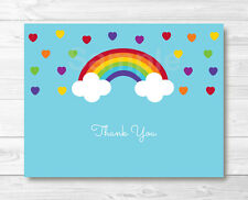 Rainbow Hearts Thank You Card Printable