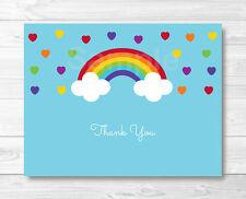 Rainbow Hearts Thank You Card Printable