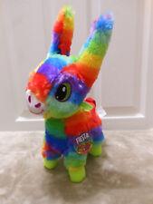 "14"" Pinata Style Fiesta the Pinata Donkey stuffed toy Rainbow Colors PLUSH NWT!!"