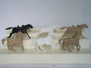 Marx Knights / Robin Hood / Lot of 6 60mm Recast Knights Horses in 2 Poses