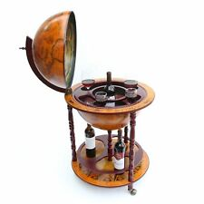 FoxHunter Globe Formado MINIBAR BEBIDAS Gabinete Estilo Retro Carrito Botellas