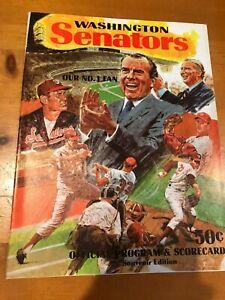1970 Washington Senators D.C. Ted Williams Richard Nixon Baseball Program