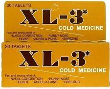 Xtra XL-3 Cold Medicine Tablets 20 ea