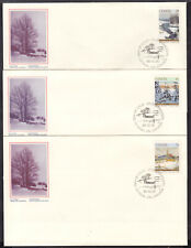 CANADA #1256-57-58 SET/3 on 1989 FIRST DAY COVER LOT/3