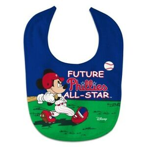 PHILADELPHIA PHILLIES MICKEY MOUSE BABY BIB DISNEY MLB OFFICIALLY LICENSED