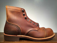 RED WING IRON RANGER BOOTS COPPER ROUGH & TOUGH LEATHER 8085 MADE IN THE USA