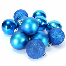 Glitter Christmas Baubles Xmas Tree Ornament Hanging Ball Christmas Decor 24 pcs