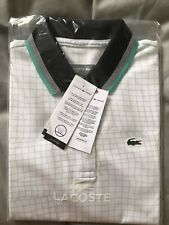 Ladies New With Tags Lacoste Tennis Net Print Ultra Dry Polo shirt  Genuine S 38