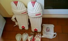 SS CRICKET SLAZENGER JUNIOR SHIN GUARDS GLOVES COD PIECES WE LL USED