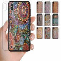 For OPPO Series  - Aboriginal Art Theme Tempered Glass Mobile Phone Case Cover