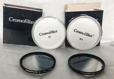Two Vintage 58mm Cromofilter's B1 & B2 Graduated Blue Filters