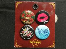 Vintage Hard Rock Cafe BUTTON Assorted PIN Set Girls Live Love Rock Eagle NEW