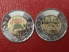 Canada 2019 75th Anniversary of D-Day $2 Toonie Coloured and Non-Colour Coin Set