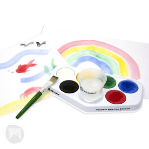 Micador Tempera Painting Station - 6 Disc and Water Pot