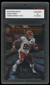 CHASE YOUNG 2020 PANINI SELECT TURBOCHARGED 1ST GRADED 10 ROOKIE CARD RC