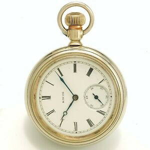 Antique Keystone Watch Co. Pocket watch 7-Jewel Open Face Swing-Out Case CA1890