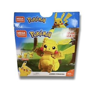 Mega Construx FVK81 Buildable 12.6 in Pokemon Jumbo Pikachu 806 Pieces Age 8+