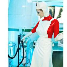 Handmade 100% Latex Nurse Suit Rubber Catsuit Hood Unisex Cozy Bodysuit S-XXL