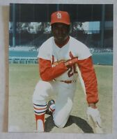 LOU BROCK 8 X 10 PHOTO GLOSSY LICENSED ST LOUIS CARDINALS PICTURE B ON DECK