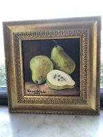 Paints : Acrylic Paint pears 8x8 inch with frame  free shipping USA