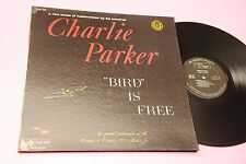 CHARLIE PARKER LP BIRD IS FREE ORIG 1961 NM ! GATEFOLD LAMIANTED COVER