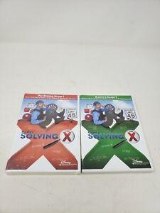 Bill Nye's Solving for X Set of 2 DVDs Pre-Algebra V1 and algebra I Volume 1 Lot