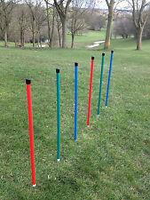 Dog Agility Coloured 6 Pole Basic Weave by Jessejump Agility