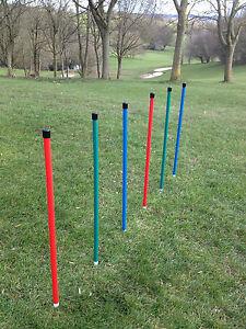 Dog Agility Coloured 6 Pole Basic Weave + 6 Pole Webbing by Jessejump Agility