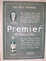 Premier Whisky de luxe advert 1916
