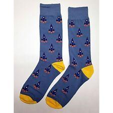 NWT Rocket Dress Socks Novelty Men 8-12 Blue Fun Sockfly