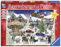 RAVENSBURGER CHRISTMAS PUZZLE*1000 TEILE*SNOWY VILLAGE*WEIHNACHTEN*RARITÄT*OVP