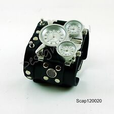 SteamPunk Watch Leather wide band Women Men  COOL Naughty Fashion Artistic 1220
