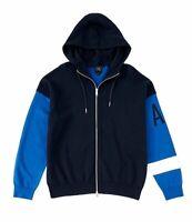 Armani Exchange Men's Sz XL   A|X Logo Full-Zip Hoodie Sweatshirt Blue