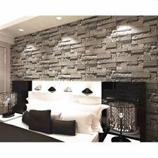 Modern Vintage Wallpaper Rolls 3D Mural Wall Art Paper Textured Brick Stone 10M
