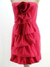 Womens BCBG MAXAZRIA Hot Pink Cocktail Dress Rose detail Size 10 M Melbourne Cup
