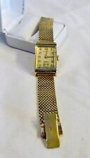 Exceptional 14K Gold Hamilton 982 Medallion Art Deco Wrist Watch w/14K Mesh Band