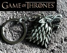 GAME OF THRONES WOLF Figurine / Pewter color Key chain collectible cosplay STARK