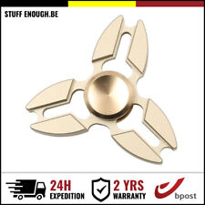 METAL FALCON TRI FIDGET HAND SPINNER ANTI BEARING ULTIMATE SPIN TOY GOLD OR GOUD