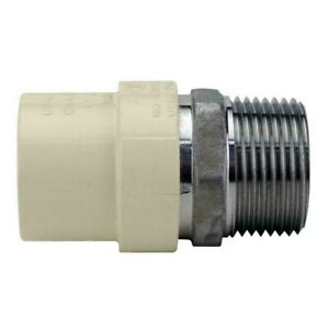 Apollo 1 in. x 1 in. CPVC CTS Slip Stainless Steel MPT Adapter CPVCMA1